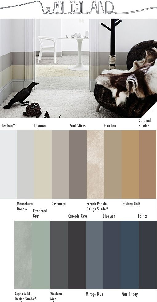 Dulux Colour Forecast 2015 - the first of four designer colour palettes created for Dulux.