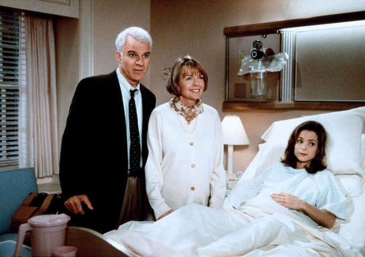 Steve Martin, Diane Keaton and  Kimberly Williams in Father of the Bride Part II (1995) #90smovies #fatherofthebride2 #stevemartin #dianekeaton #kimberlywilliams