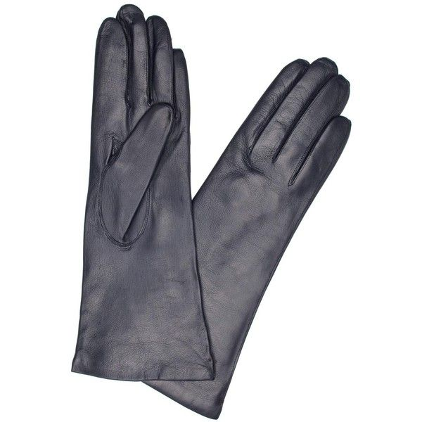 Dents Navy Cashmere-lined Leather Gloves (£21) ❤ liked on Polyvore featuring accessories, gloves, navy blue gloves, real leather gloves, dents gloves, navy gloves and navy blue leather gloves