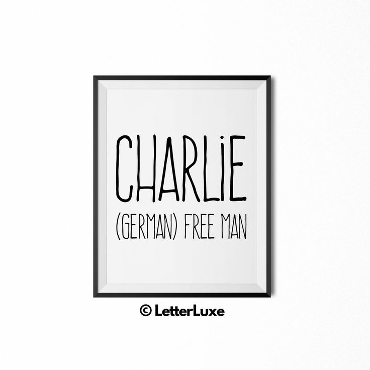 24 best last minute gift ideas for boys images on pinterest name charlie name meaning art printable new baby gift negle Image collections