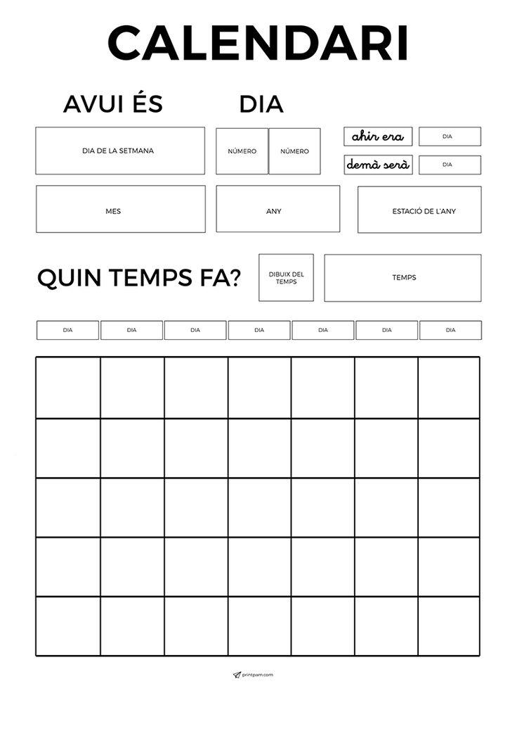 Calendari per imprimir per l'escola