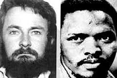 Neil Aggett (left)...Aggett made an affidavit 14 hours before his death that he had been assaulted, blindfolded and given electric shocks. He was also seen returning from one of his interrogations, being half carried, half dragged by warders. His death on 5 February 1982, after 70 days of detention without trial, marked the 51st death in detention. He was 28 years old. He was the first white person to die in detention since 1963