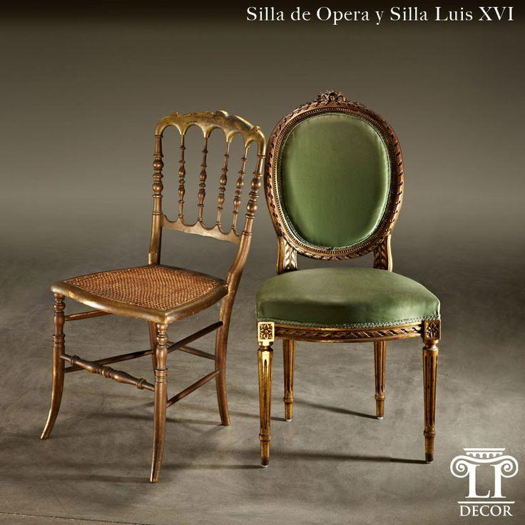 Muebles de Época - Asientos de Época Silla de Opera/Silla Luis XVI -