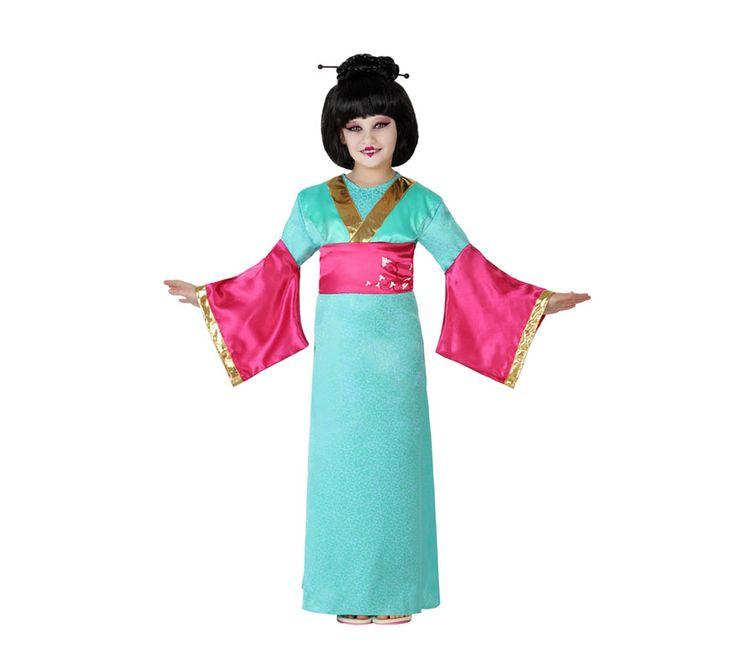Disfraz de Geisha con fajín para niñas