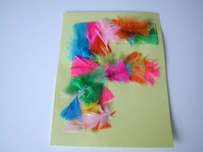 Alphabet Letter F Is For Feathers Craft! Alphabet letter F: Preschool Activities, Alphabet Letters Crafts, Feathers Crafts, Crafts Idea, Alphabet Crafts, Preschool Letters, Kids, Preschool Alphabet, Letters F Crafts