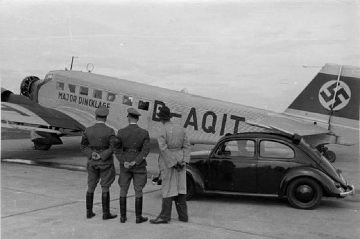 kdf wagen in airport m nchen 1937 vw vintage photos. Black Bedroom Furniture Sets. Home Design Ideas