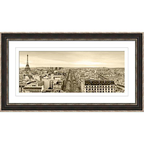 Framed Giclee Print - Panoramic of Paris