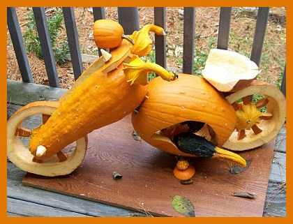 Harely Davidson pumpkin #choosetobemoreloving @PennFoster