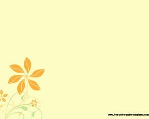 Simple Flower PowerPoint Template