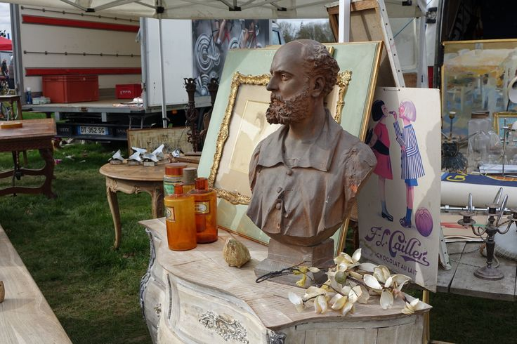 Antique stall outside at Ardingly International Antiques & Collectors Fair