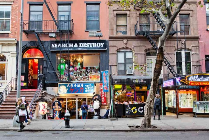 Eclectic shops, restaurants, bars and performers line St