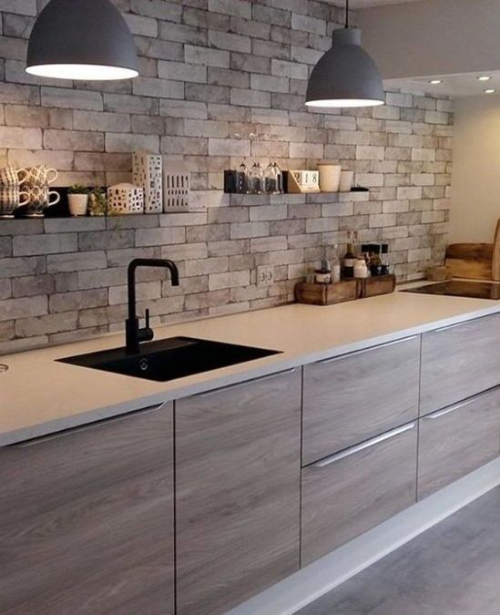Desain Dapur Minimalis 3x3 Motif Batu Alam Desain Dapur Minimalis