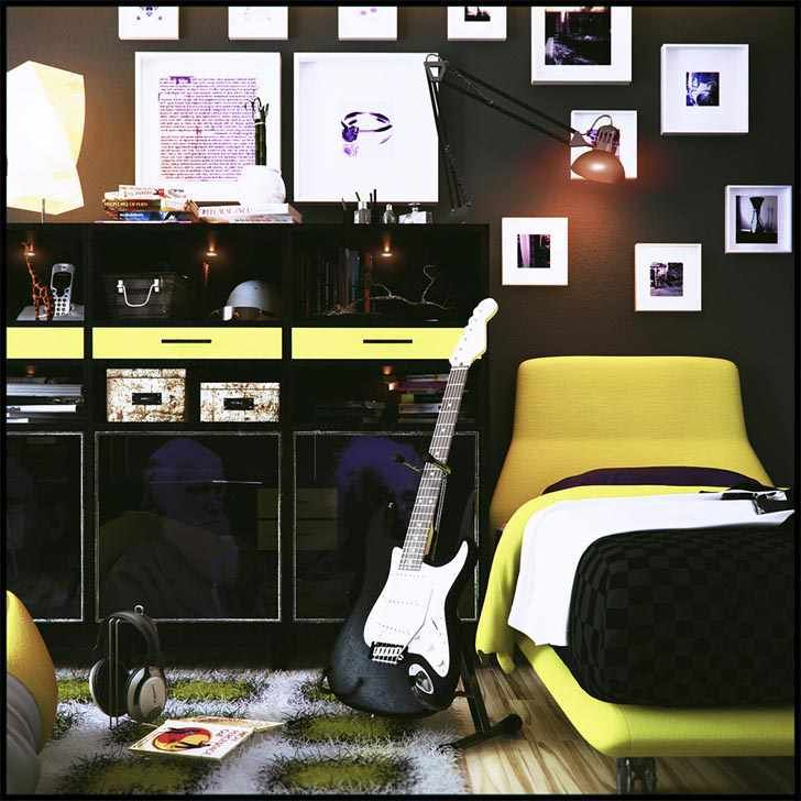 Teen Room Design With Music Theme Decor Ideas