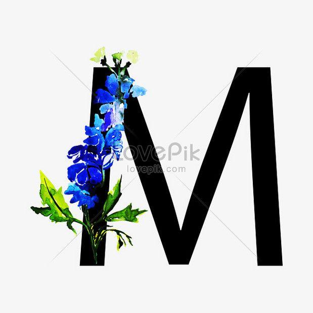 بلا رقيق حرف M زخرفة زهرة النمط الصيني Illustration Hinh Minh Họa Thiệp