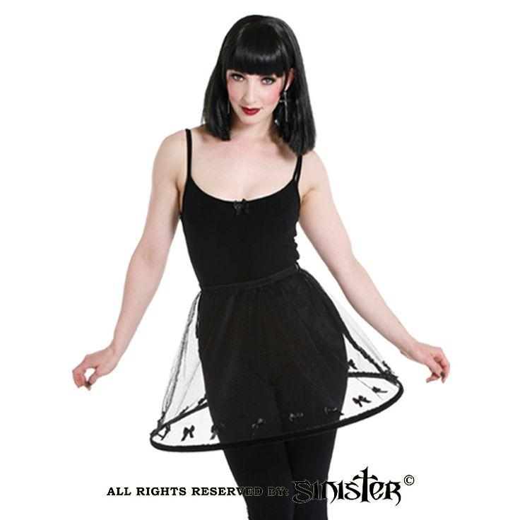 Net gothic hoop crinoline miniskirt by Sinister (Skirt 783) www.sinister.nl