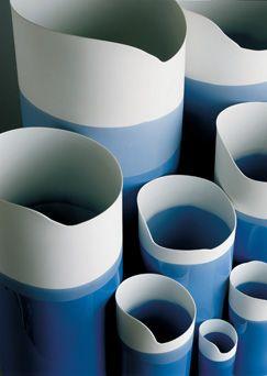 Studio Pieter Stockmans - Belgian ceramic designer.   Blue vase.