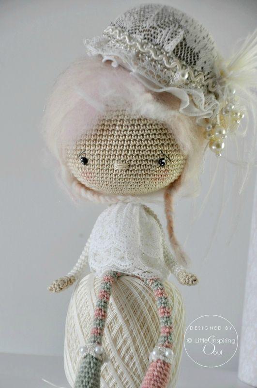 shabby crochet doll