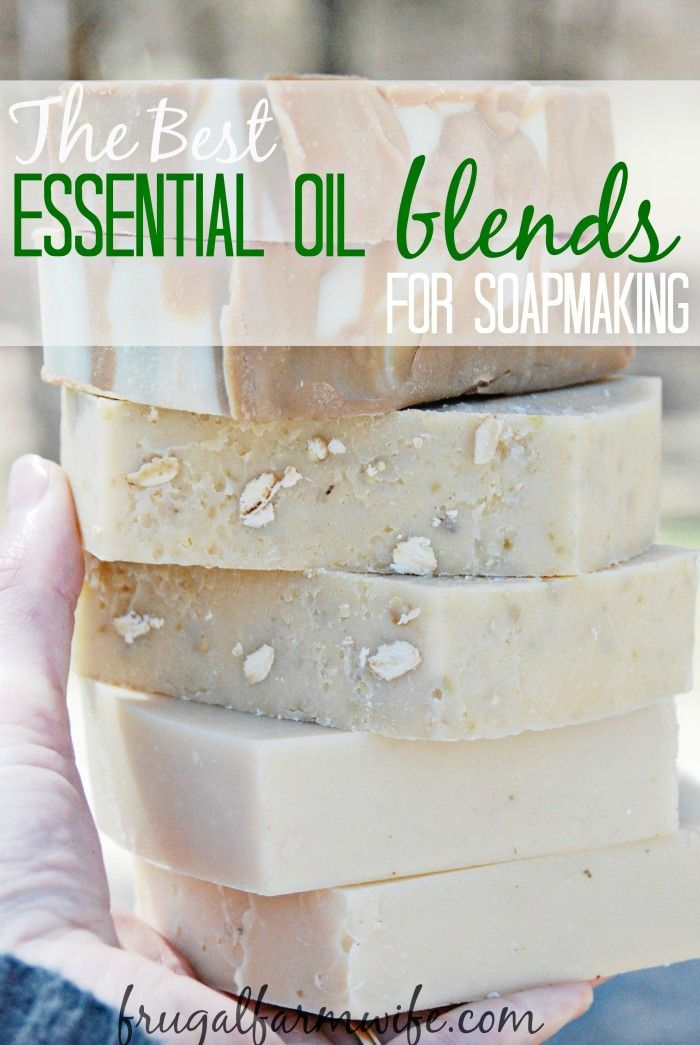 Our favorite essential oil blend recipes for homemade soap making. These smell amazing!