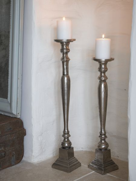 Objects of Design #248 Silver Floorstanding Candlesticks. Floor Candle HoldersCandle ... & Best 25+ Tall candle holders ideas on Pinterest | Entrance decor ... azcodes.com