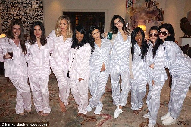 Baby love: Kim Kardashian certainly was the belle of the baby shower on Sunday as seen in two new photos she posted to her blog on Monday