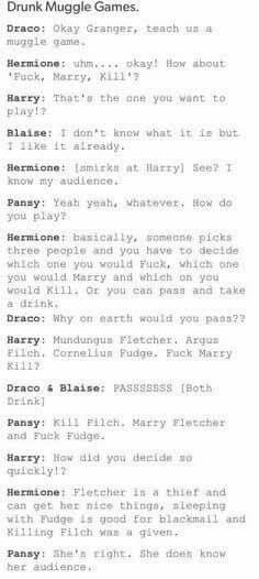 Hermione Knows Her Audience
