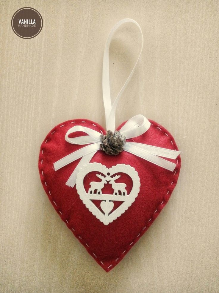 "Felted Christmas decorations by ""Vanilla Handmade"""