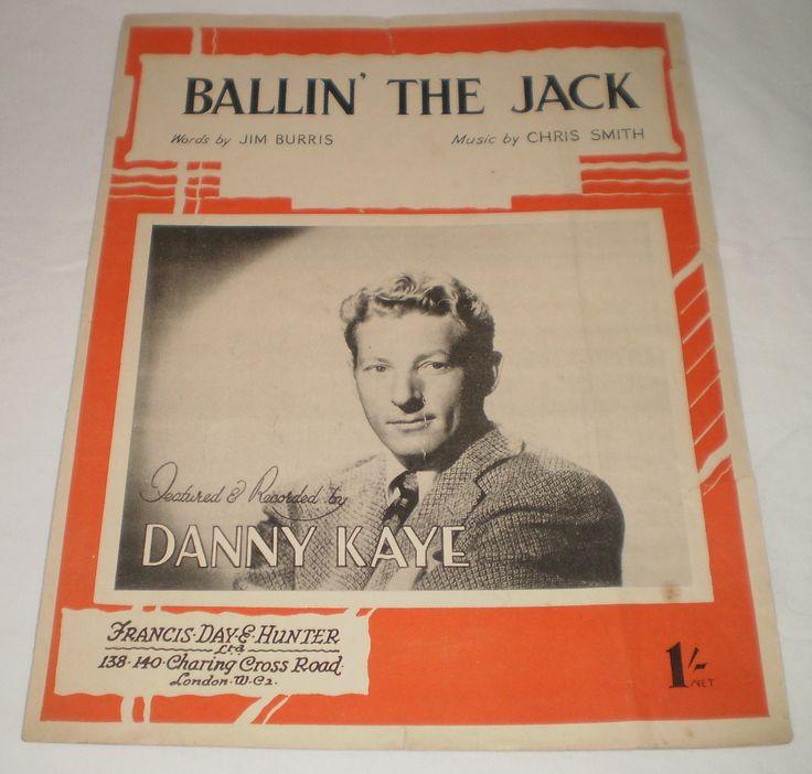 Ballin The Jack by Chris Smith Jim Burris Vintage Sheet Music 1913 Danny Kaye