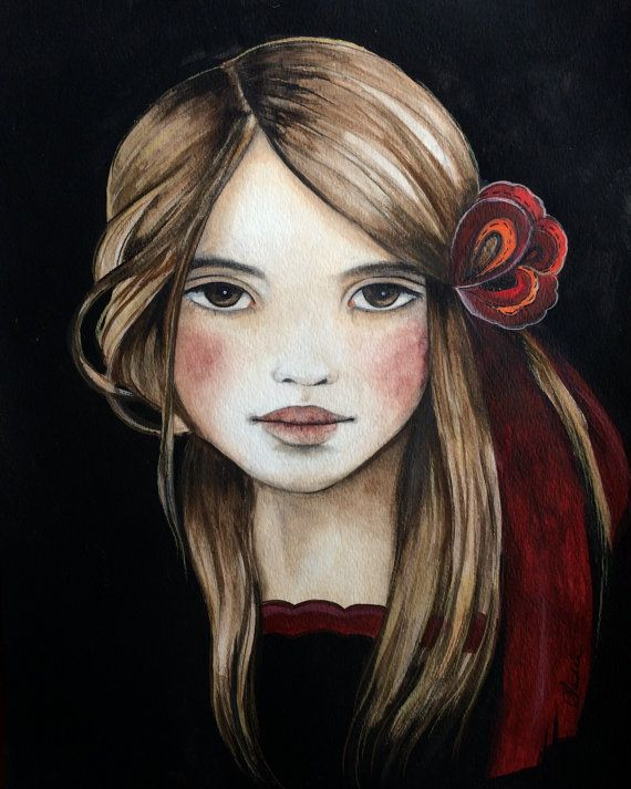 the red ribbon art print 8 x 10 inches by claudiatremblay on Etsy, $20.00