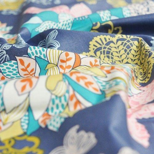 tkanina bawełniana kwiaty Hope Chest Floral Blue Blend Fabrics