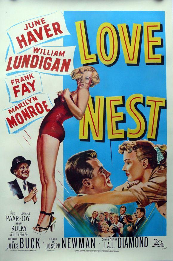Love Nest, 1951. #marilyn #monroe