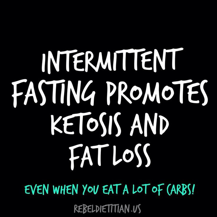 Intermittent fasting promotes ketosis and fat loss. Even ...