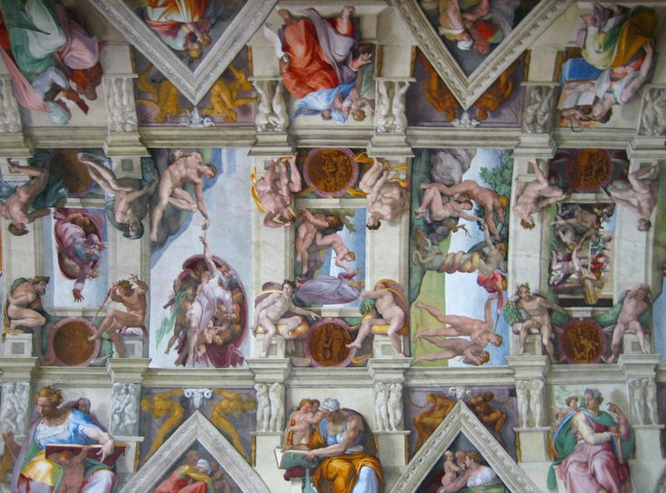 Michelangelo, Sistine Chapel - Ceiling View. Michelangelo worked on the Sistine Chapel ...    awesomestories.com