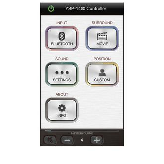 The Yamaha Home Theater Controller app provides easy operation of select Yamaha sound bars using your iPhone®, iPod touch® or iPad® or Android™ device.