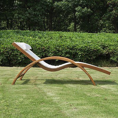 Outsunny-Lounge-Chair-Chaise-Wood-Outdoor-Pool-Patio-Furniture-Camping-Headrest