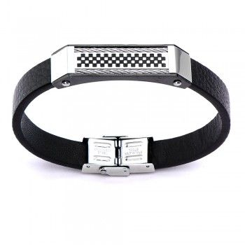 Men's Black Leather Cable Pro BraceletLeather Cable, Pro Bracelets, Black Leather, Cable Pro, Men Black, Magnets Clasp, Steel Magnets, Clasp Bracelets, Leather Bracelets
