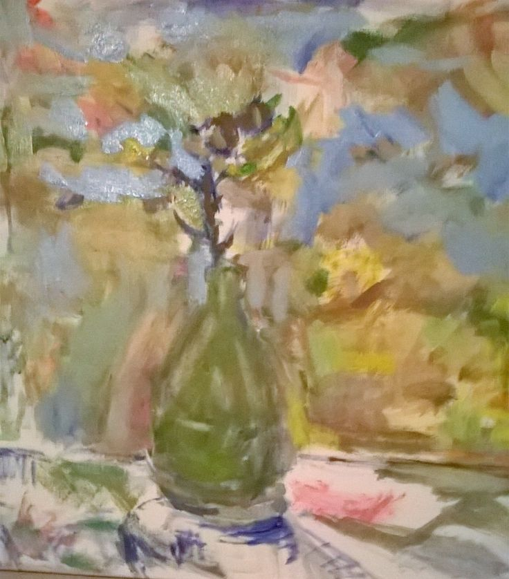 Thistle in vase. Oil on canvas. 60x50cm. 2016