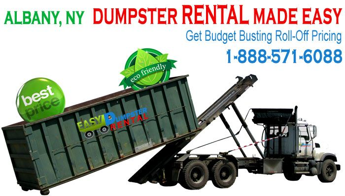 Albany, NY at Easy Dumpster Rental Dumpster Rental in Albany, NY Get Budget Busting Roll-Off Pricing Click To Call 1-888-792-7833Click For Email Quote How We Offer Exceptional Rolloff-Dumpster Service In Albany: Being well prepared for any contingency is a hallmark of our customer service team. Organizations who fail to react ... https://easydumpsterrental.com/new-york/dumpster-rental-albany-ny/