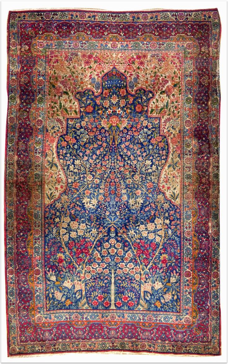 isfahani tree of life carpet, iran