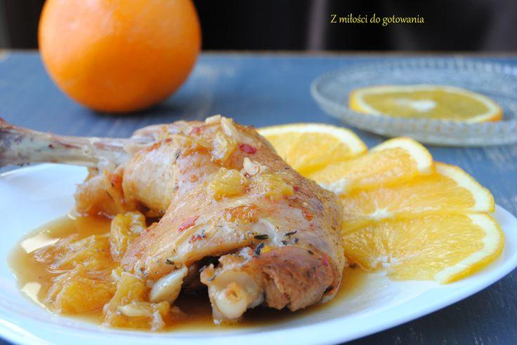 Udka w pomarańczowym sosie