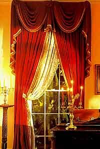 Affordable Victorian Red Velvet Curtains With Living Room