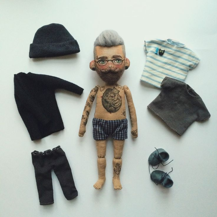 A personal favourite from my Etsy shop https://www.etsy.com/listing/496443664/cloth-doll-baby-beardy-with-tattoos