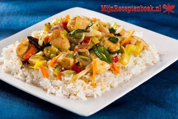 Nasi Goreng paksoi (gebakken rijst met kipfilets met paksoi) recept