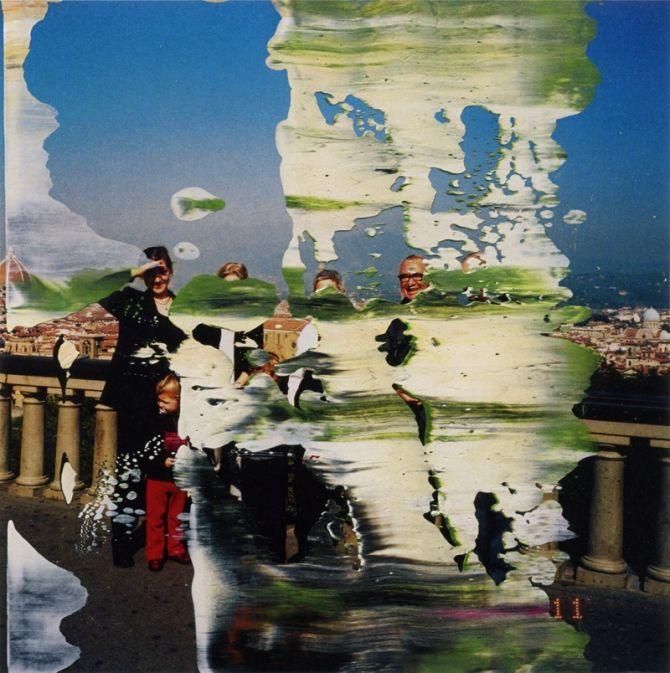 Gerhard Richter Ohne Titel 1999 Oil on colour photograph