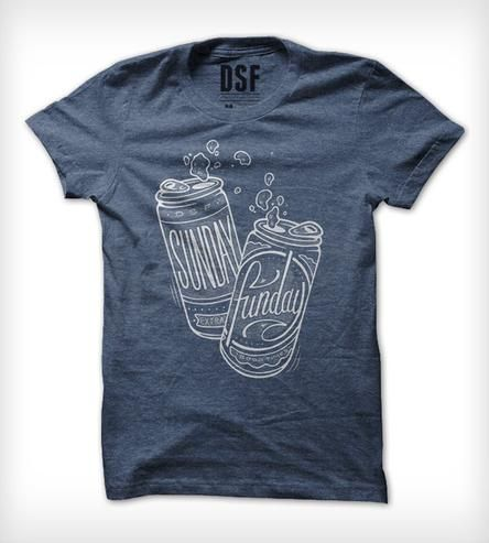 Blue Boozy Sunday Funday T-Shirt by DSF Clothing Company and Art Gallery on Scoutmob Shoppe