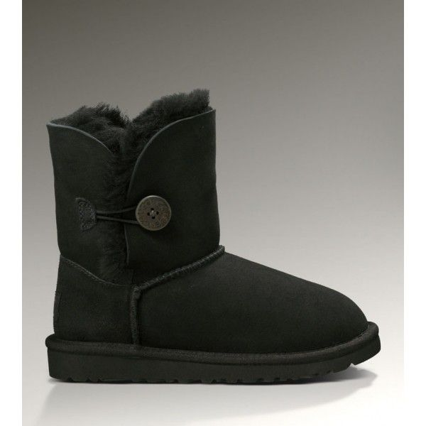 #BootsUggHub,  UGGS Bailey Button Boots 5991 Black Discount