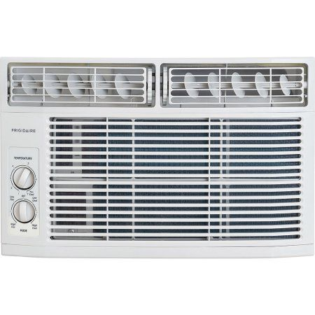 Frigidaire FFRA0811R1 8,000 BTU 115V Window-Mounted Mini-Compact Air Conditioner with Mechanical Controls, White