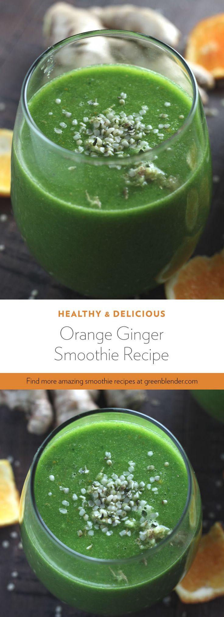 1 1/2 oz baby spinach 2 tangerines - peeled 1 banana - peeled 1/2 inch ginger 1 tbsp mesquite 1 tbsp hemp seeds 1 cup water 1 cup ice