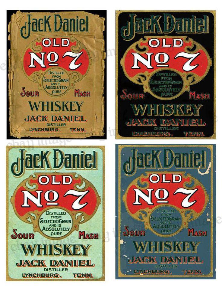 Vintage Style Labels ~Jack Daniels - #FH417 Reproduction | Collectibles, Advertising, Merchandise & Memorabilia | eBay!