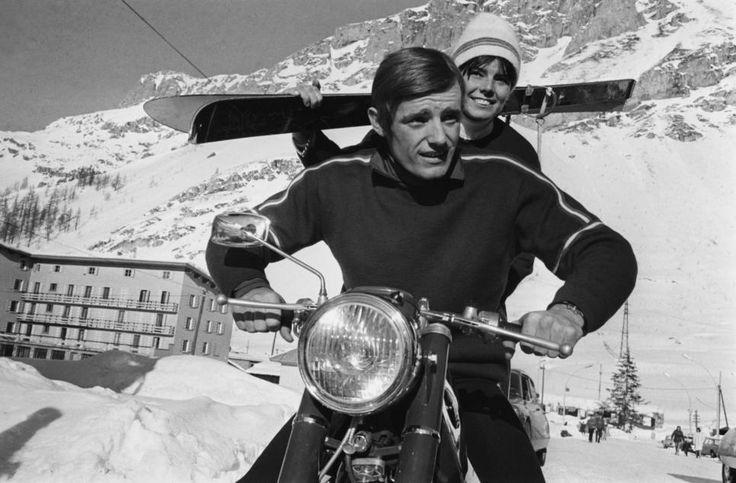 Jean-Claude Killy et Annie Famose 1966