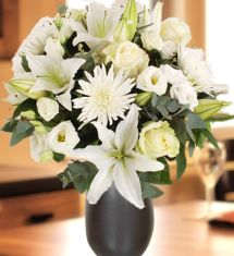 Blanche New Price:  £42.99 Old Price:   £48.99 You Save:  £6.00 Earn 42 Loyalty Points ADD TO BASKET Size:   Add a I Love You balloon:   + £4.99 Add a glass vase:   + £4.99